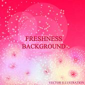 Bright Freshness Background. Pink Abstract Backdrop. Ecology Theme Flyer Template. Bright Fresh Conc poster