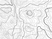 stock photo of longitude  - vector abstract topographical map with no names - JPG
