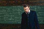 Talented Mathematician. Genius Solved Mathematics Problem.teacher Smart Student Intrested Math Physi poster