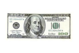 foto of one hundred dollar bill  - a one hundred dollar bill - JPG