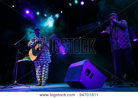 LOULE, PORTUGAL - JUNE 30: Boubacar Traora from Mali performs onstage in a world music festival at festival med on June 30, 2012 in Loule, Portugal.