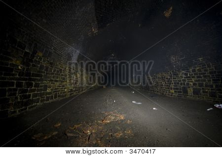 Dark Misty Underground Tunnels
