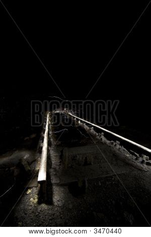 Creative Lighting Of Old Rails