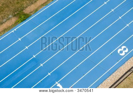 Blue Track From Above