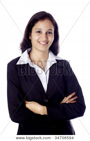 Young Indian Business Woman With Arms Crossed