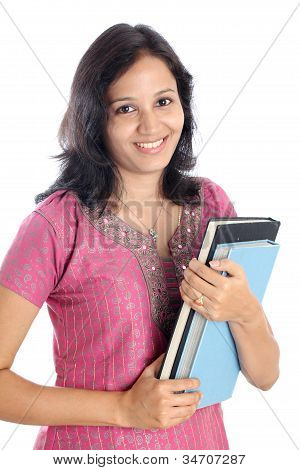Happy Young Indian College Student