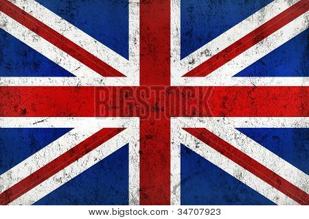 Grunge Dirty And Weathered British Flag