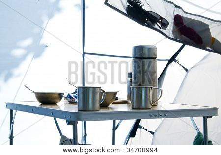Inside Camping Tent