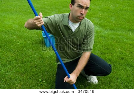 Cleaning The Yard