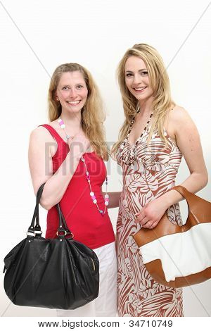 Two Female Friends Out Shopping