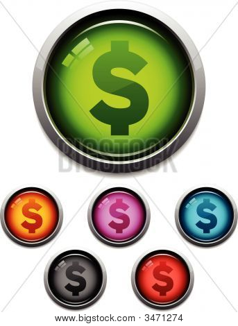 Money Glossy Icons