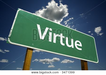 Virtue Road Sign