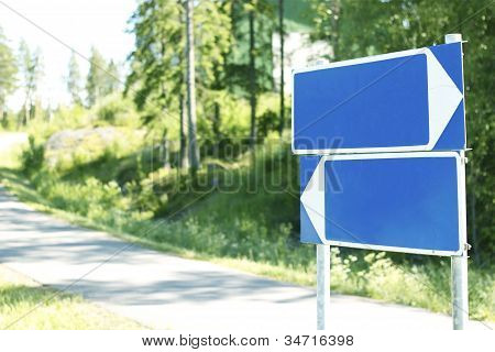 Empty Road Signs