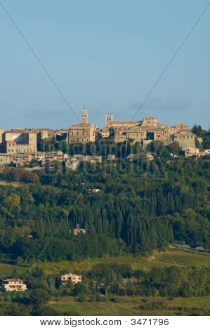 Medieval Town Of Montepulciano, Tuscany, Italy