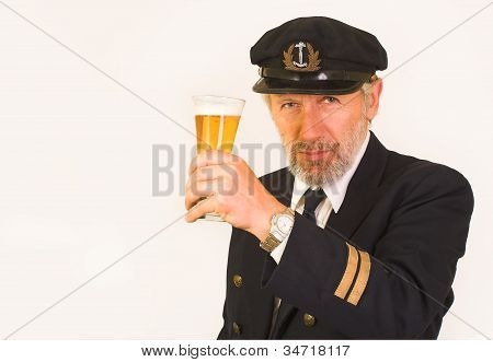 Seaman inviting for a glass of beer