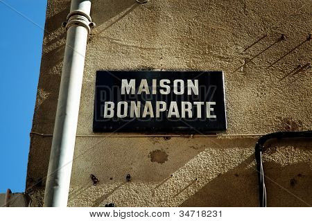 The Birthplace Of Napoleon Bonaparte In Ajaccio, Corsica