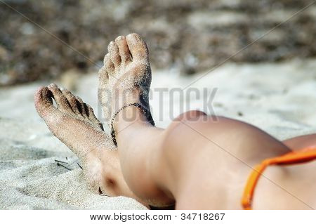 Sexy Feet With Anklet