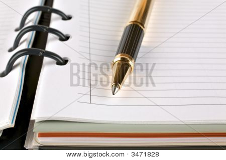 Organizer Note Book And Pen
