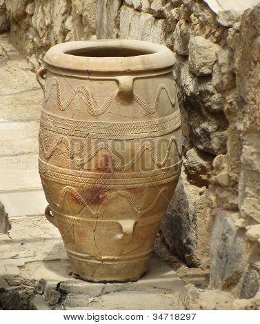 Ancient Minoan Amphora Vase