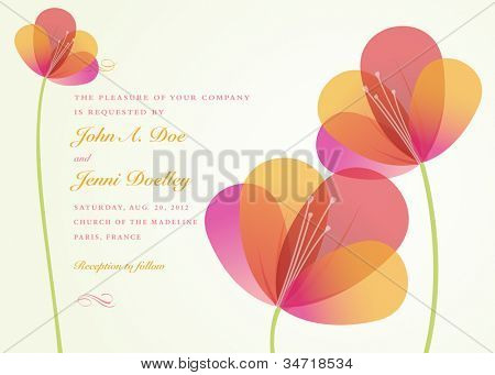 Vector Flower Background. Easy to edit. All pieces are separated.