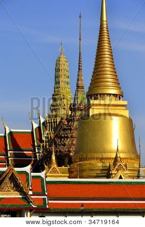 Pra Keaw Temple in Bangkok, Thailand.