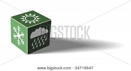 Green Weather Cube