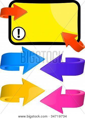 Setas multicoloridas