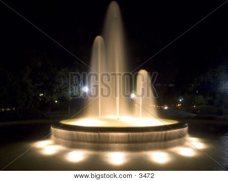 Glowing Night Fountain