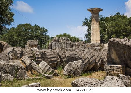 Una imagen del famoso patrimonio Olympia en Grecia