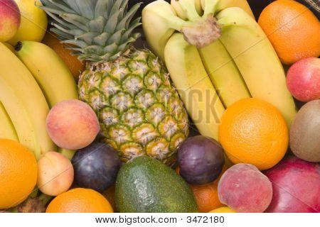 Mixed Fruit Closeup
