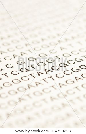 List of dna testing letters