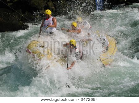European Rafting Championship R6 On The Rapids Of River Vrbas Near Banja Luka, Republika Srpska, Bos