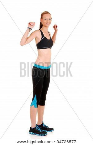 woman doing dancing fitness