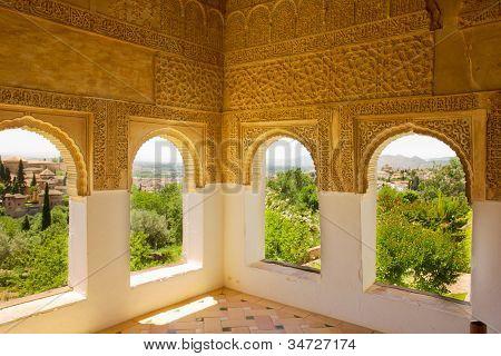 Generalife windows Granada, Spain