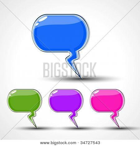 Glossy speech bubble set EPS 10.