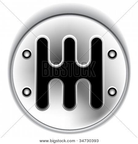 vector manual chrome gear shifter