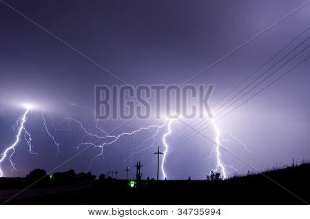 Tormenta eléctrica pesada