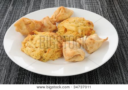 Crab Cakes And Rangoon