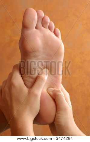 Reflexology Foot Massage At Wellness Center