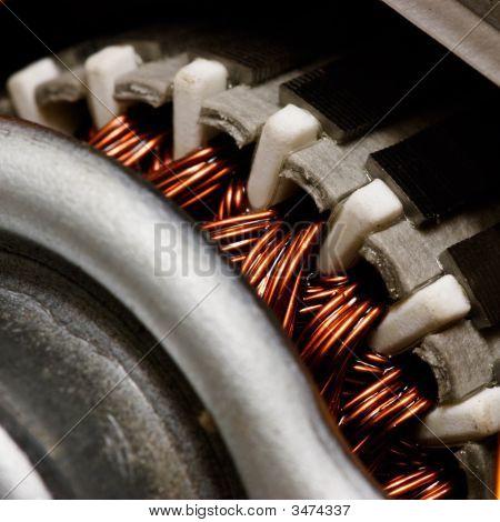 Dentro Motor elétrico
