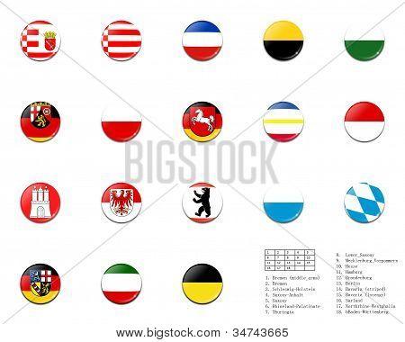 Bolas de bandera civil del estado de Alemania