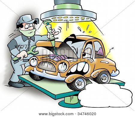 Revisão de carro grande