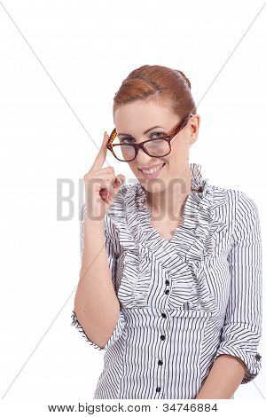Young Succssesful Woman With Glasses Natural Look
