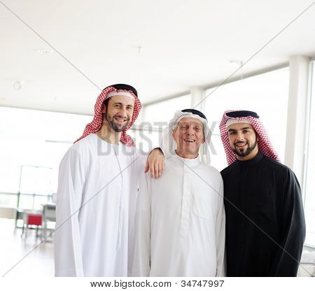 Successful and happy business people standing for a meeting