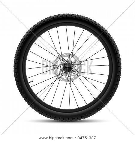 Roda de bicicleta. Vector.