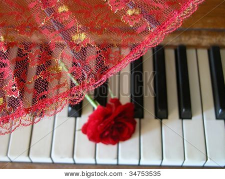 Fan, Rose & Piano 2