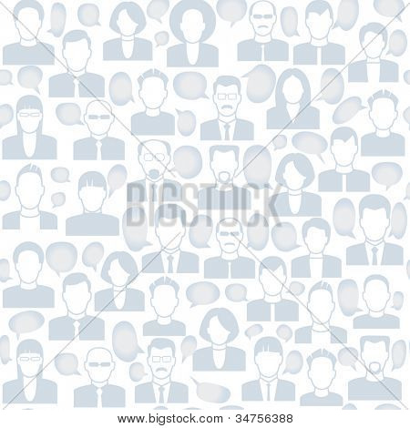 vector  background consists of many icons of modern humans.