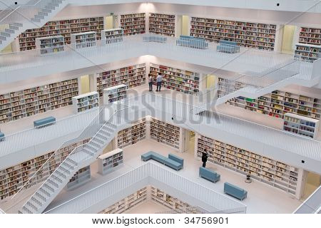 STUTTGART, GERMANY - JULY 2: The Stuttgart City Library on July 2, 2012 in Stuttgart, Germany.  The library, opened in October 2011, was designed by Yi Architects and has more than 500,000 books.