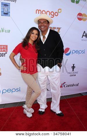 LOS ANGELES - MAY 7: Eva Longoria, George Lopez at the 5th Annual George Lopez Celebrity Golf Classic at Lakeside Golf Club on May 7, 2012 in Toluca Lake, Los Angeles, California