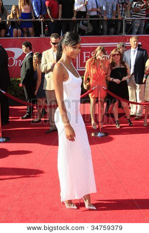 LOS ANGELES - JUL 11:  Chanel Iman arrives at the 2012 ESPY Awards at Nokia Theater at LA Live on July 11, 2012 in Los Angeles, CA